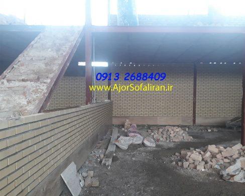دیوار ساخت سوله با آجر لفتون , سوله ساخته شده با آجر ده سوراخ , سوله ساخته شده با آجر بهمنی , سوله ساخته شده با آجر نما